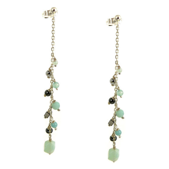 Amazonite & Hematite Earrings - karen-morrison-jewellery