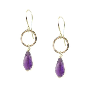 Amethyst Earrings - karen-morrison-jewellery