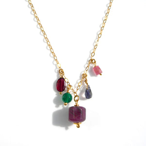 Ruby gemstone Gold Necklace