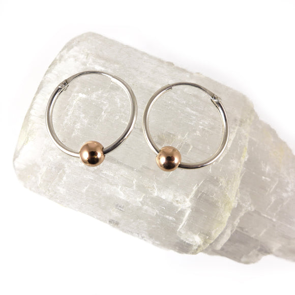 Silver & Gold Hoop Earrings - karen-morrison-jewellery