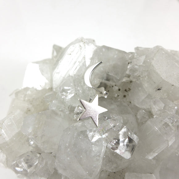 Star and Moon Studs - karen-morrison-jewellery