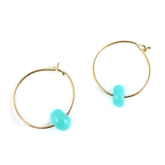 Amazonite & Gold Earrings - karen-morrison-jewellery