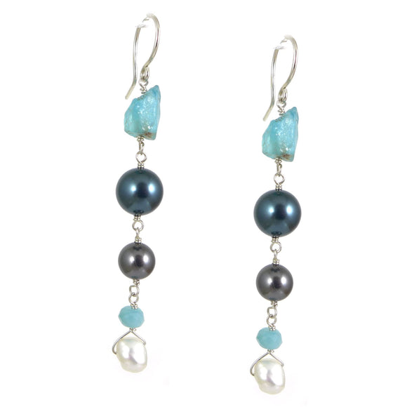 Apatite & Swarovski Earrings - karen-morrison-jewellery