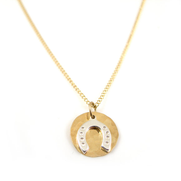Horseshoe 9ct Gold Necklace - karen-morrison-jewellery