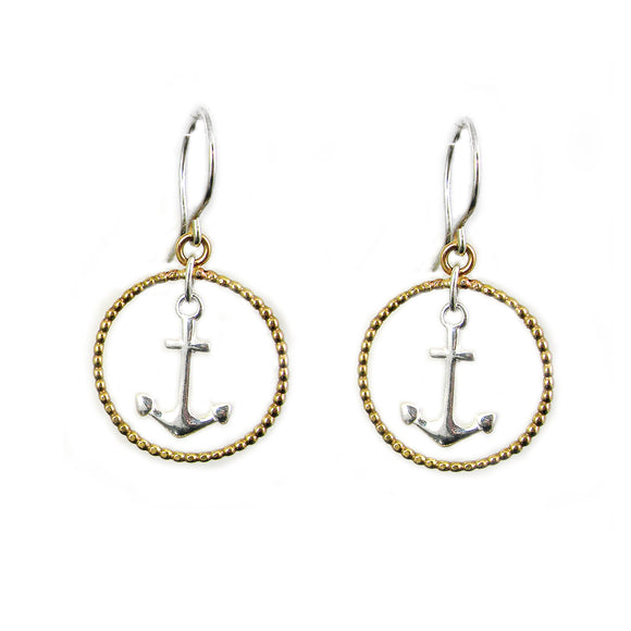 Anchor Earrings - karen-morrison-jewellery