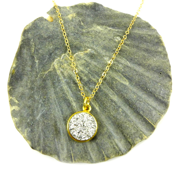 Druzy Gold Necklace - karen-morrison-jewellery