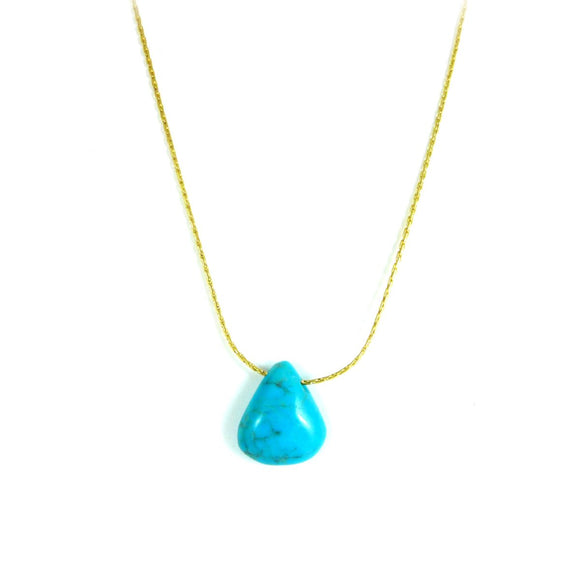 Turquoise and Gold Filled Necklace - karen-morrison-jewellery