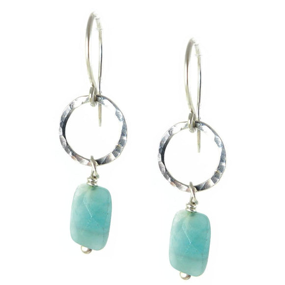 Amazonite Earrings - karen-morrison-jewellery