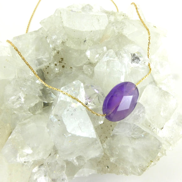 Amethyst Gold Necklace - karen-morrison-jewellery