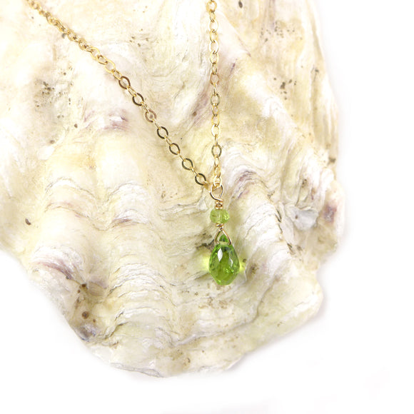 Peridot Gold Necklace - karen-morrison-jewellery