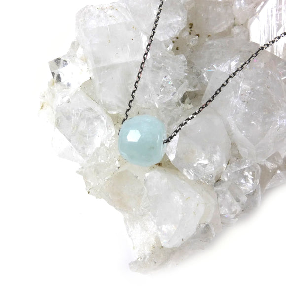 Aquamarine Necklace - karen-morrison-jewellery