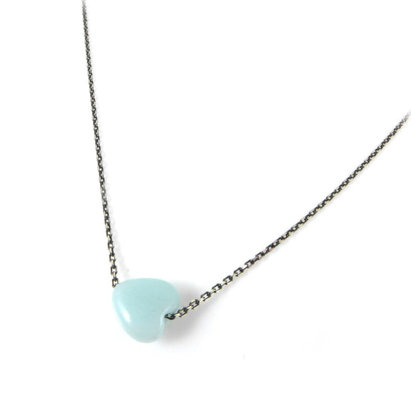 Amazonite Heart Necklace - karen-morrison-jewellery
