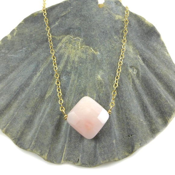 Pink Opal Necklace - karen-morrison-jewellery