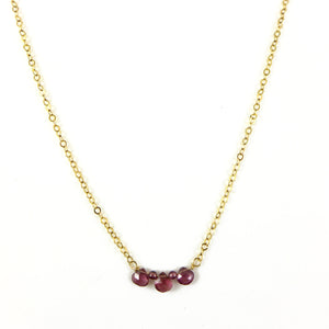 Rhodolite Garnet Gold Necklace