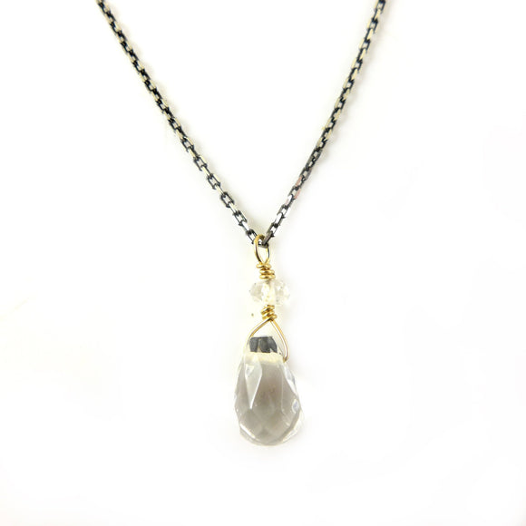 Rock Crystal Necklace - karen-morrison-jewellery
