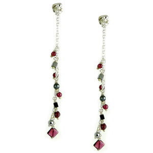 Garnet & Hematite Earrings - karen-morrison-jewellery