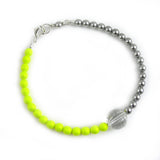 Neon Lights swarovski crystal and pearl bracelet - karen-morrison-jewellery