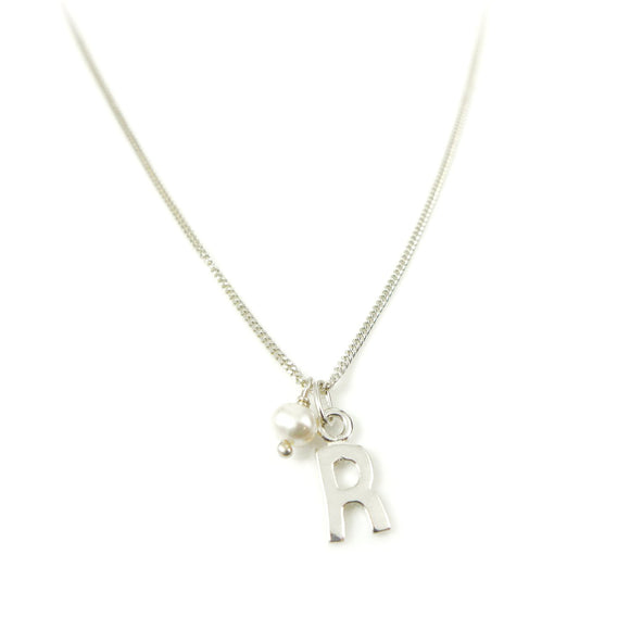 Initial Sterling Silver Necklace
