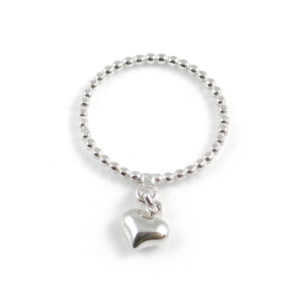 Silver Heart Ring - karen-morrison-jewellery