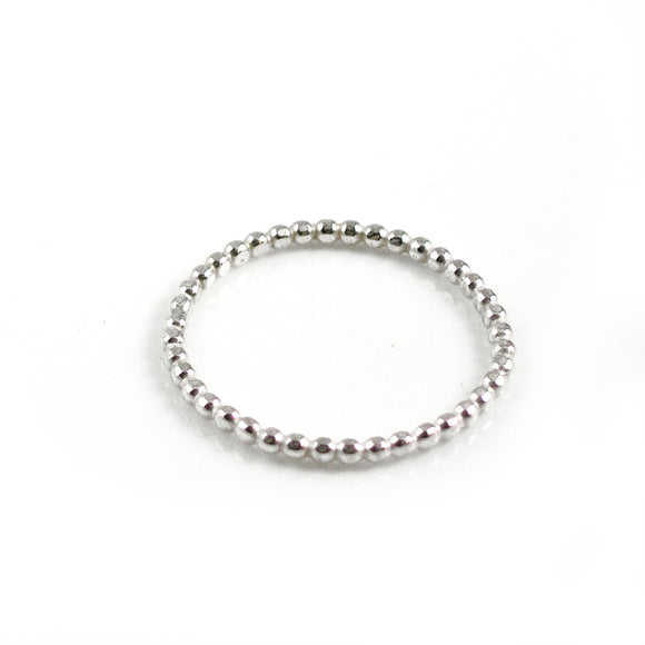 Silver Ball Ring - karen-morrison-jewellery