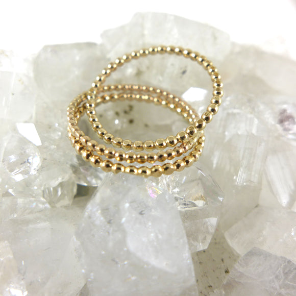 Gold Filled Ball Ring - karen-morrison-jewellery