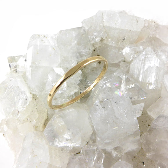 Gold Filled Faceted Ring - karen-morrison-jewellery