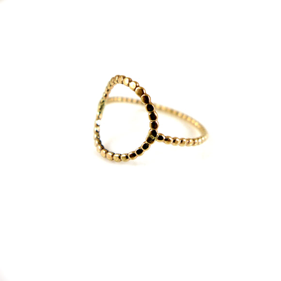 Gold Circle Ring - karen-morrison-jewellery