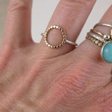 Silver & Rose Gold Circle Ring - karen-morrison-jewellery