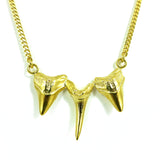 Sharks triple tooth necklace