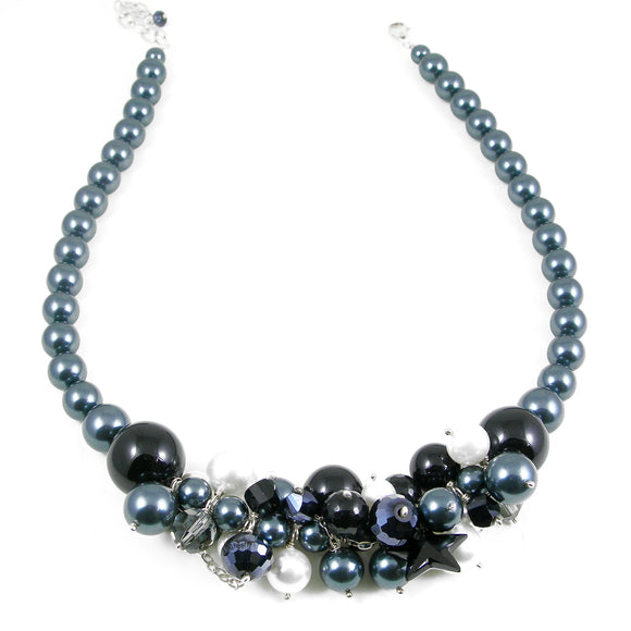 Tahitian Blue Swarovski Pearl Statement necklace