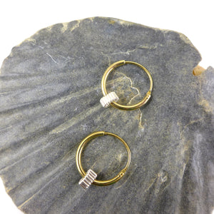 Gold & Silver Hoop Earrings - karen-morrison-jewellery