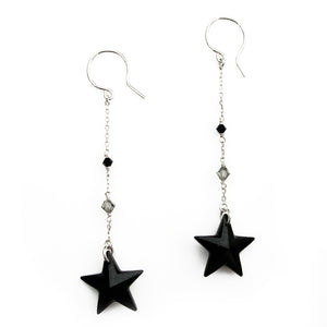 Jet Star Earrings - karen-morrison-jewellery