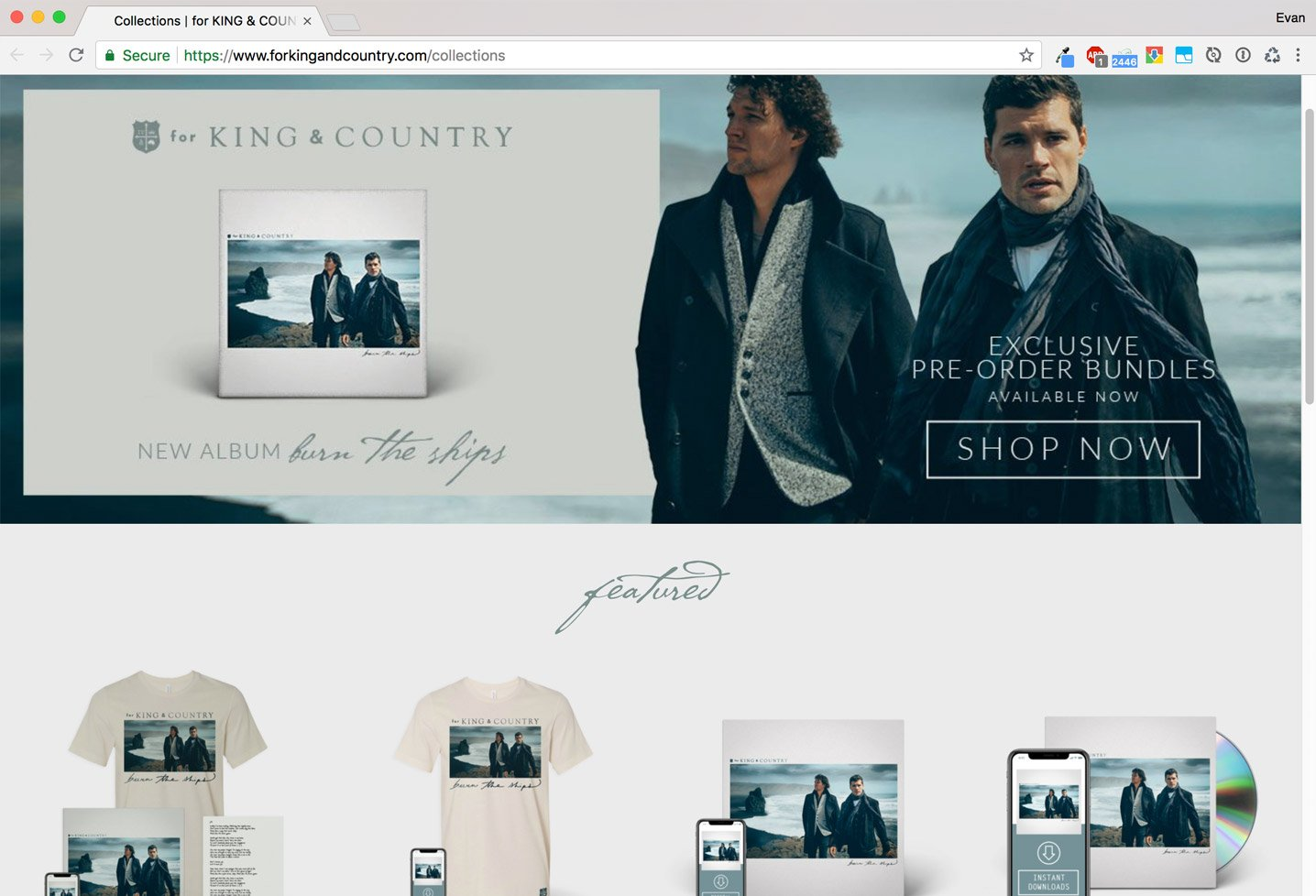 for KING & COUNTRY Shop
