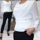 Trousers set with belt plus sweater - Regina Store By Centparadise
