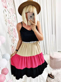 LONG DRESS TRICONOS BELT INCLUDED