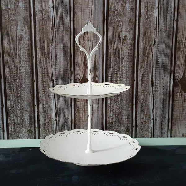 Two Tiered Scalloped Tray