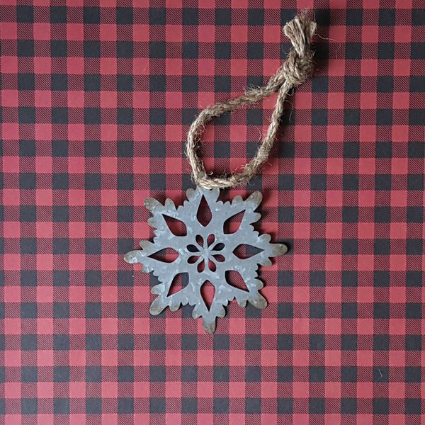 Metal Snowflake Ornaments