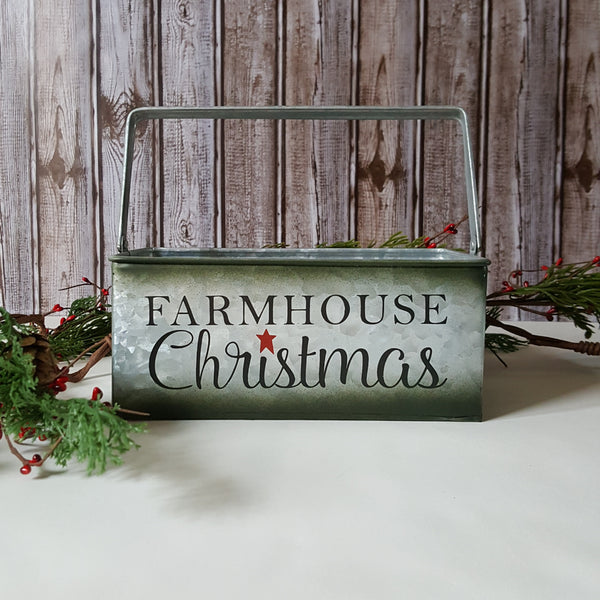Farmhouse Christmas Metal Baskets
