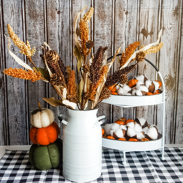 Corn Husks and Solidago Stems (Set of 3)