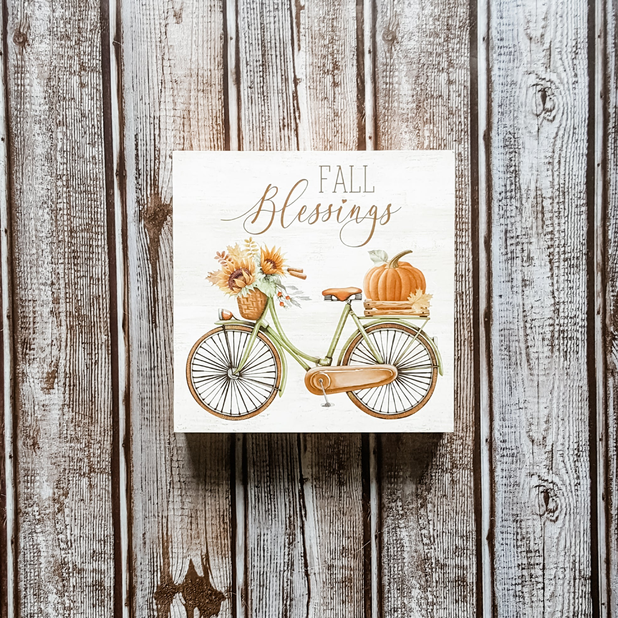 """Fall Blessings"" Box Sign"