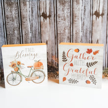 "Load image into Gallery viewer, ""Fall Blessings"" Box Sign"