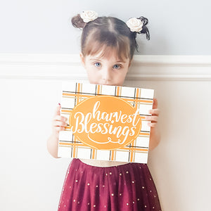 """Harvest Blessings"" Box Sign"