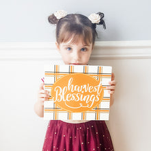"Load image into Gallery viewer, ""Harvest Blessings"" Box Sign"