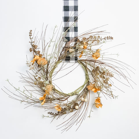 Thistle and Gold Mini Wreath