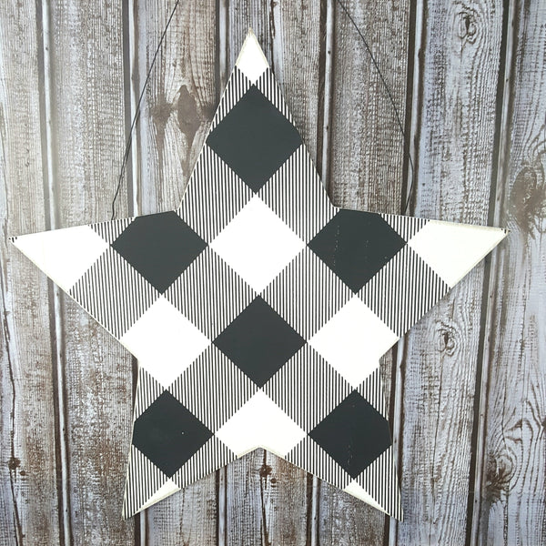 "Black and White 15"" Star"