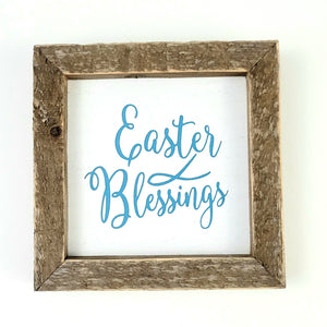 Easter Blessings Box Sign