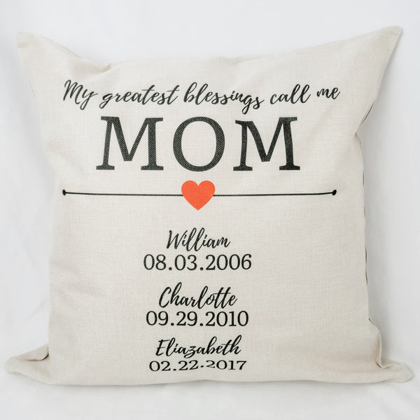 Personalized Mother's Day Pillow Covers