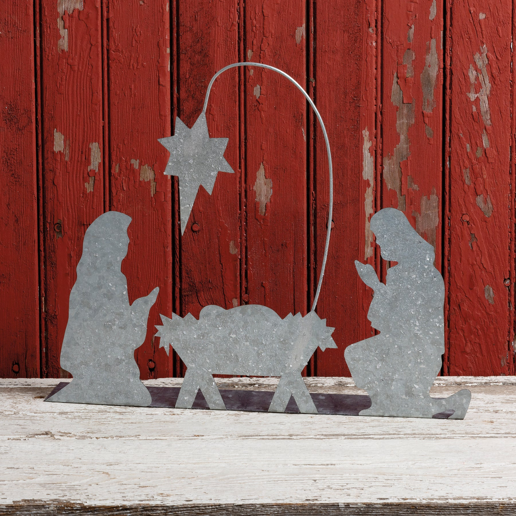 Metal Stand Up Nativity