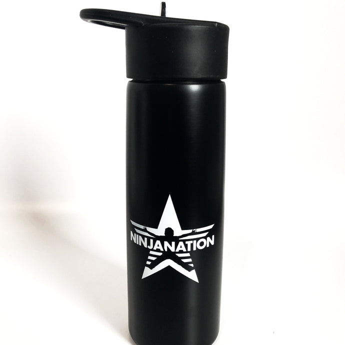 Ninja Nation Logo Water Bottle - Black - 24oz