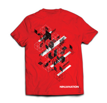 "Ninja Nation Red T-Shirt with ""Hero Proving Ground"" on the back"